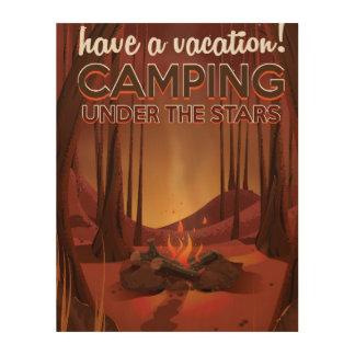 森林のキャンプファイヤー ウッドウォールアート