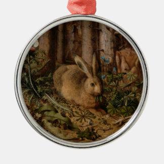 森林のノウサギ メタルオーナメント