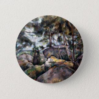 森林のポールセザンヌの石 5.7CM 丸型バッジ