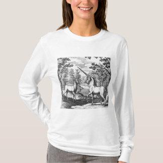 森林のユニコーンそして雄鹿 Tシャツ