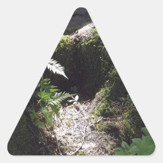 森林のライト 三角形シール・ステッカー