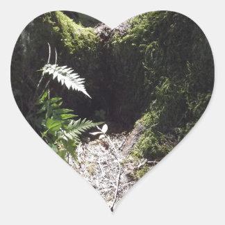 森林のライト ハート型シール