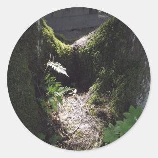 森林のライト 丸形シール・ステッカー