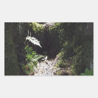森林のライト 長方形シール