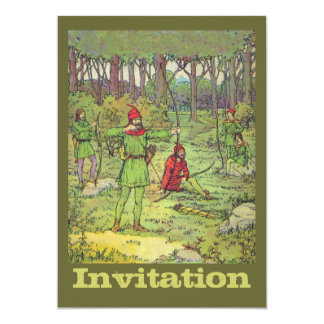 森林のロビン・フッド 12.7 X 17.8 インビテーションカード