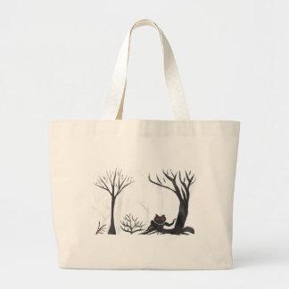 森林の事 ラージトートバッグ