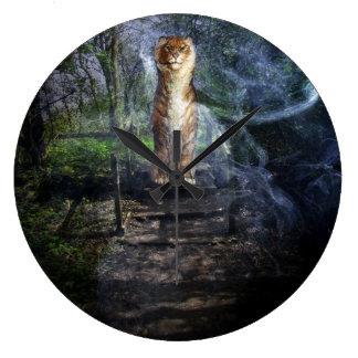 森林の保護者 ラージ壁時計