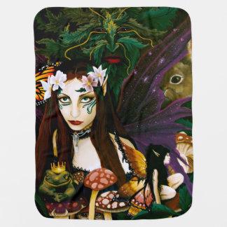 森林の女性 ベビー ブランケット