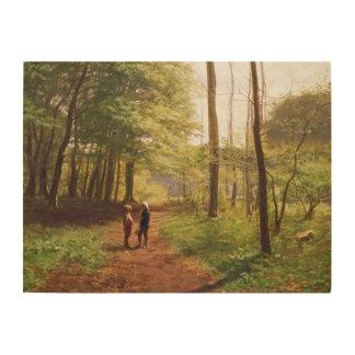 森林の歩行 ウッドウォールアート