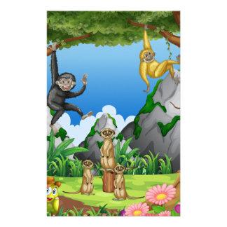 森林の猿そしてmeerkats 便箋
