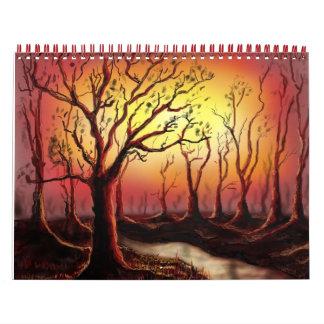 森林の美しい薄暗がり場面 カレンダー