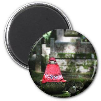 森林の赤い仏/Jizo マグネット