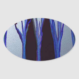 森林の魔法 楕円形シール