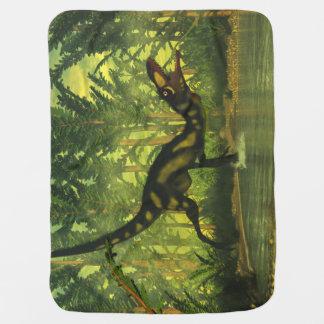 森林のDilongの恐竜 ベビー ブランケット