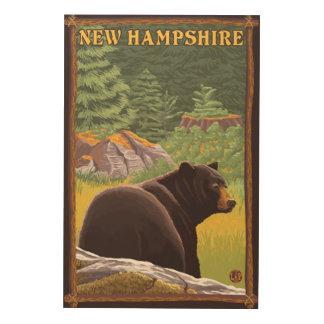 森林のHampshireBlack新しいくま ウッドウォールアート