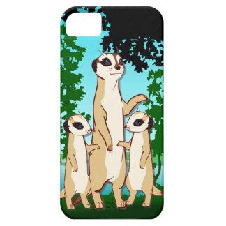 森林のMeerkat家族 iPhone SE/5/5s ケース