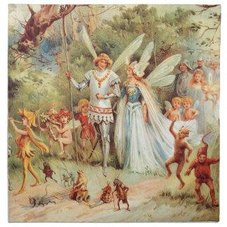 森林のThumbelinaの結婚式 ナプキンクロス