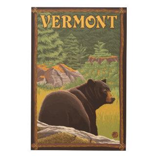 森林のVermontBlackくま ウッドウォールアート