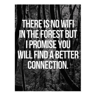 森林のWiFi無し ポストカード