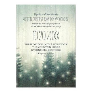森林は|の素朴な結婚式の招待をつけます カード