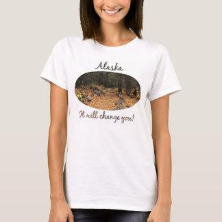 森林を通した道; アラスカの記念品 Tシャツ
