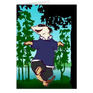 森林を通って踊るmeerkatsに会って下さい カード