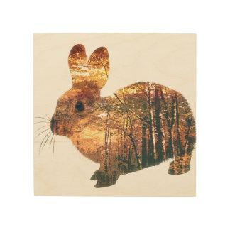 森林ウサギ ウッドウォールアート