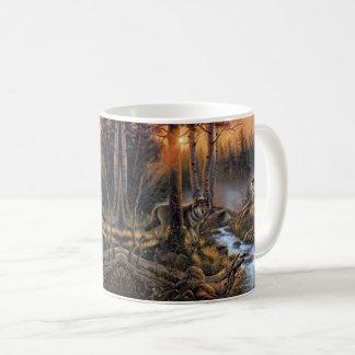 森林オオカミのマグ コーヒーマグカップ