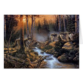 森林オオカミの挨拶状 カード