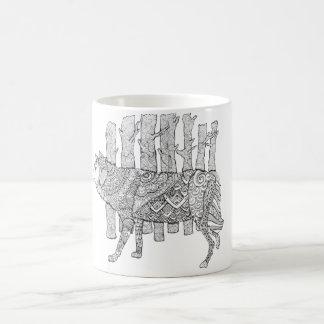 森林オオカミ コーヒーマグカップ