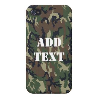 森林カムフラージュの軍隊の背景 iPhone 4/4Sケース