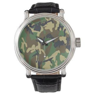 森林カムフラージュ 腕時計