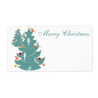 森林クリスマス ラベル