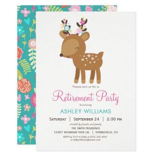 森林シカの退職のパーティの招待状 カード