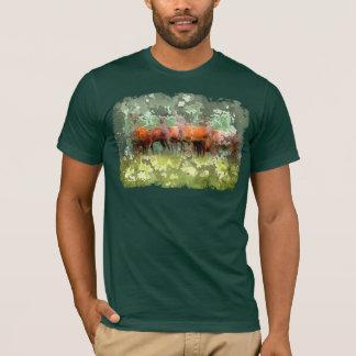 森林シカのTシャツ Tシャツ