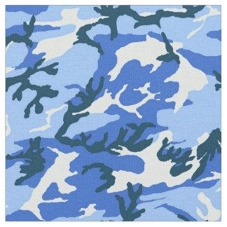 森林スカイブルーのカムフラージュ ファブリック