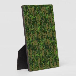 森林スタイルのデジタルカムフラージュのアクセントの装飾 フォトプラーク