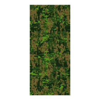 森林スタイルのデジタルカムフラージュのアクセント ラックカード