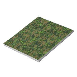 森林スタイルの緑のデジタルカムフラージュ ノートパッド