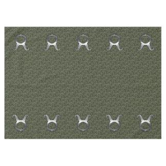 森林デジタルカムフラージュのトーラスの(占星術の)十二宮図の印 テーブルクロス