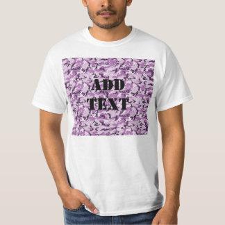 森林ピンクか紫色のカムフラージュ Tシャツ