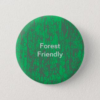 森林フレンドリーなボタン 5.7CM 丸型バッジ