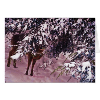森林メッセージカードのシカ カード