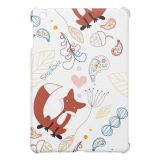 森林モダンなキツネの森林ドングリの葉iPad Mini iPad Miniケース