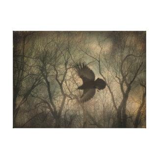 森林ワタリガラスの自然の芸術 キャンバスプリント