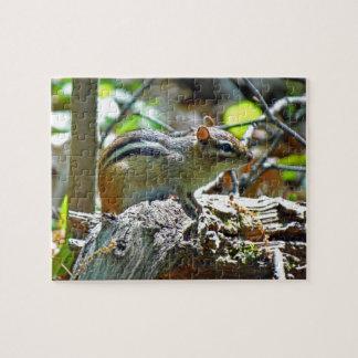 森林写真のかわいいシマリス ジグソーパズル