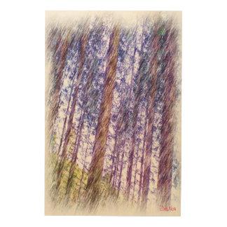 森林写真のペンキ ウッドウォールアート