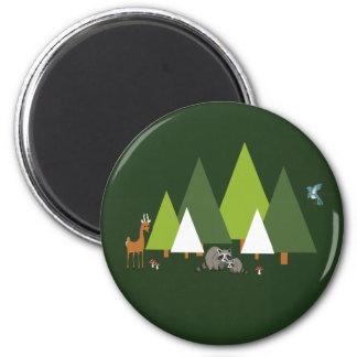森林動物の森林場面磁石 マグネット