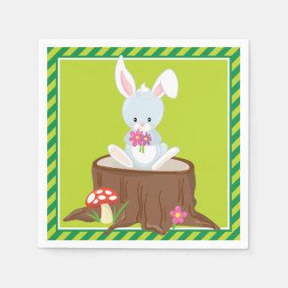 森林動物|のウサギ スタンダードカクテルナプキン