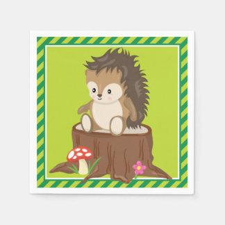 森林動物|のハリネズミ スタンダードカクテルナプキン